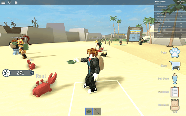 Så här kan det se ut när du spelar Roblox
