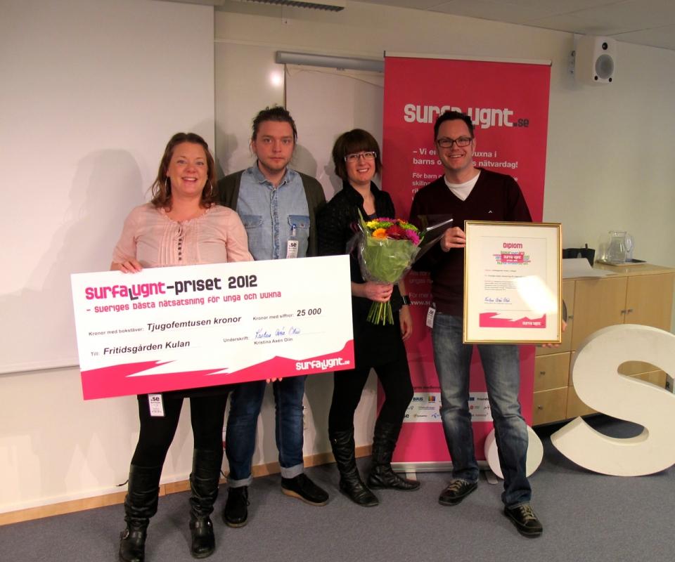 Vinnare av Surfa Lugnt-priset 2012: Fritidsgården Kulan
