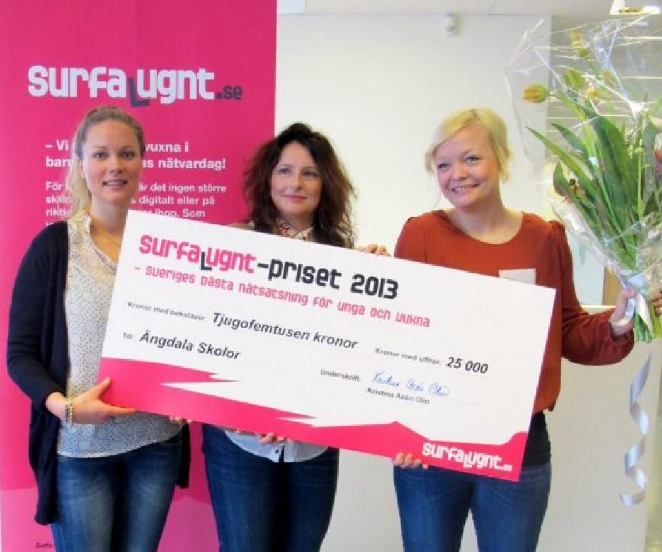 Vinnare av Surfa Lugnt-priset 2013: Ängdala Skolor